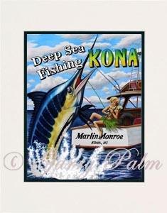 "/""Hawaiian Mermaid/"" 11x14 Print by Hawaii watercolor artist Garry Palm"
